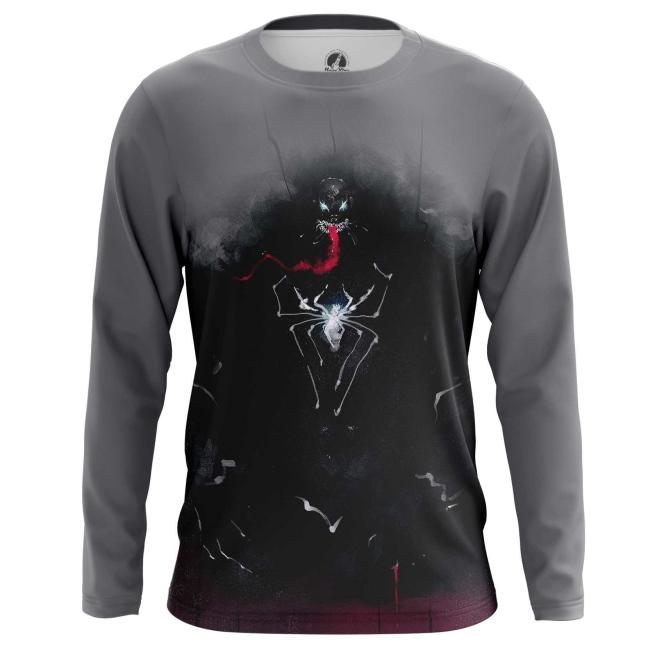 Merch Men'S Long Sleeve Venom Symbiote Dark Art Shirts