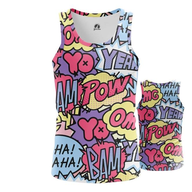 Merchandise - Tank Pop Art Pattern Comics Contemporary Vest