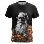Merch Men'S T-Shirt Leo Tolstoy Russian Writer