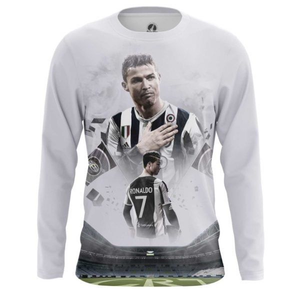 promo code e7228 88a83 Men's long sleeve Cristiano Ronaldo Juventus Fan Shirts