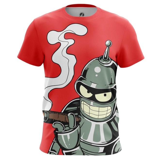 Merchandise Men'S T-Shirt Bender Futurama Robot