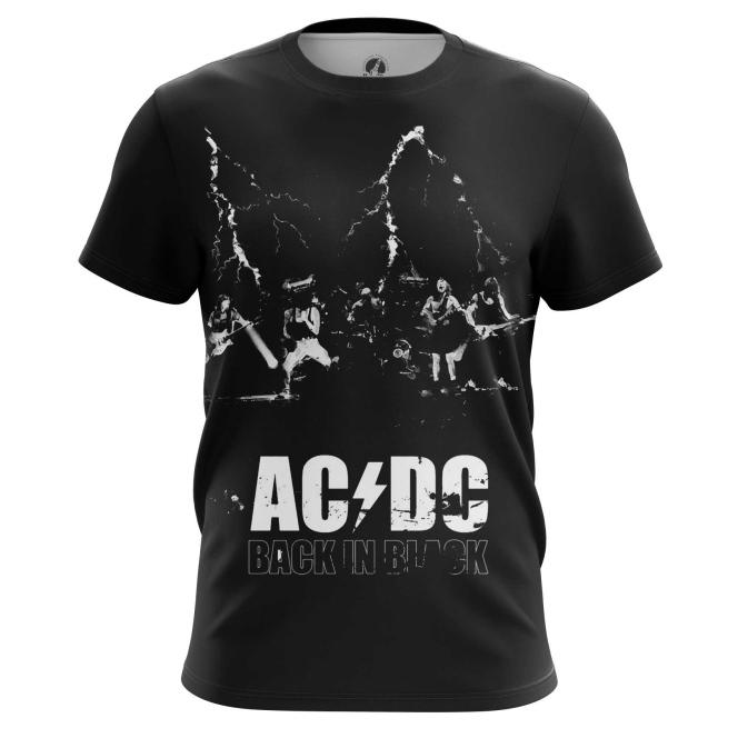 Merch Men'S T-Shirt Ac Dc Gear Fans Back In Black
