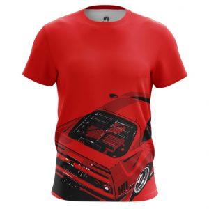 Collectibles Men'S T-Shirt Ferrari Car Logo Emblem Red