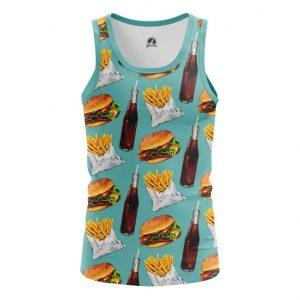 Merchandise Tank Fast Food Burger Coke Pattern Vest