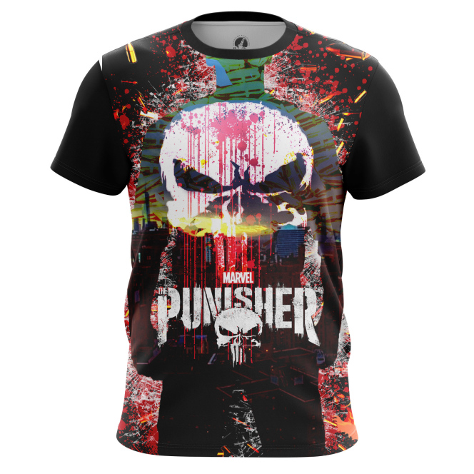 Collectibles Punisher T-Shirt Skull Illustration Inspired