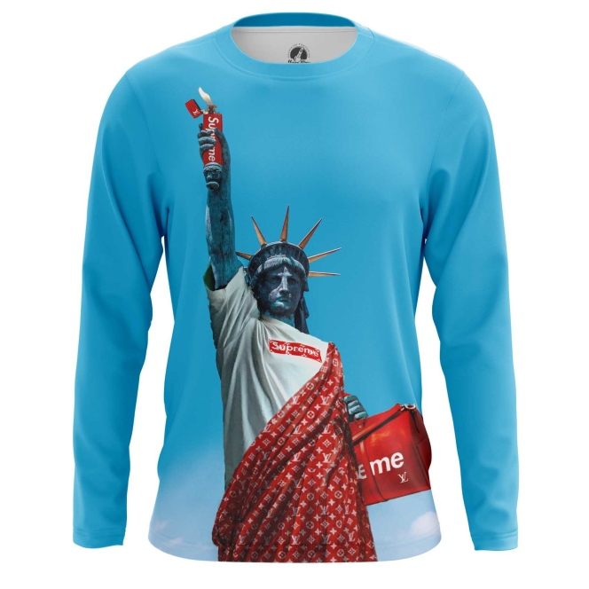 Merch Long Sleeve Supreme Sign Statue Of Liberty