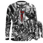 Merchandise Men'S Long Sleeve Venom Symbiote Black And White Title Logo