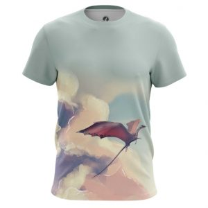 Merch T-Shirt Dragon In Te Sky Art Paint Mythology