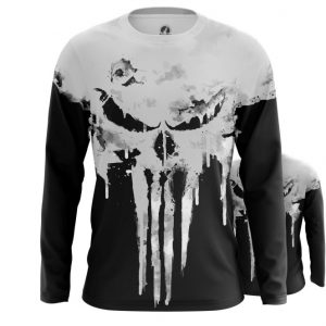 Collectibles Long Sleeve Punisher Skull Logo Full Body Print Inspired Clothing