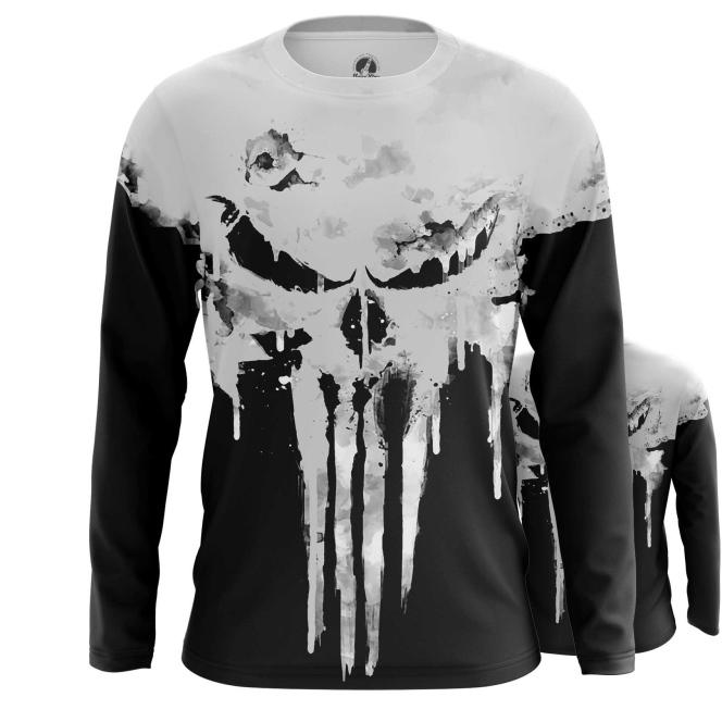 Merchandise Long Sleeve Punisher Skull Logo Full Body Print Inspired Clothing