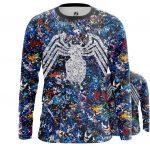 Merch Men'S Long Sleeve Venom Symbiote Collage Pattern Print