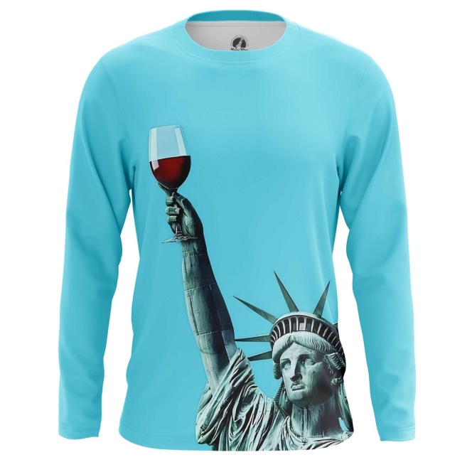 Merchandise Long Sleeve Statue Of Liberty Art Inspired Have A Drink Vine