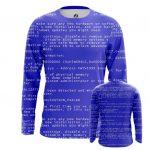 Collectibles Long Sleeve Blue Screen Of Death Web Fun Art