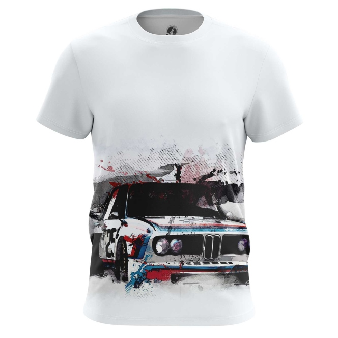 Merch Bmw Men'S T-Shirt Car White Art