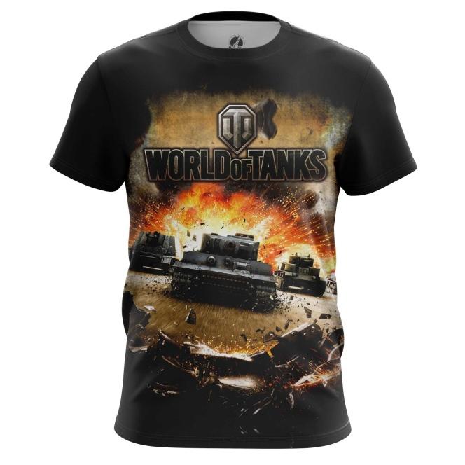 Merch Men'S T-Shirt World Of Tanks Gaming Clothing