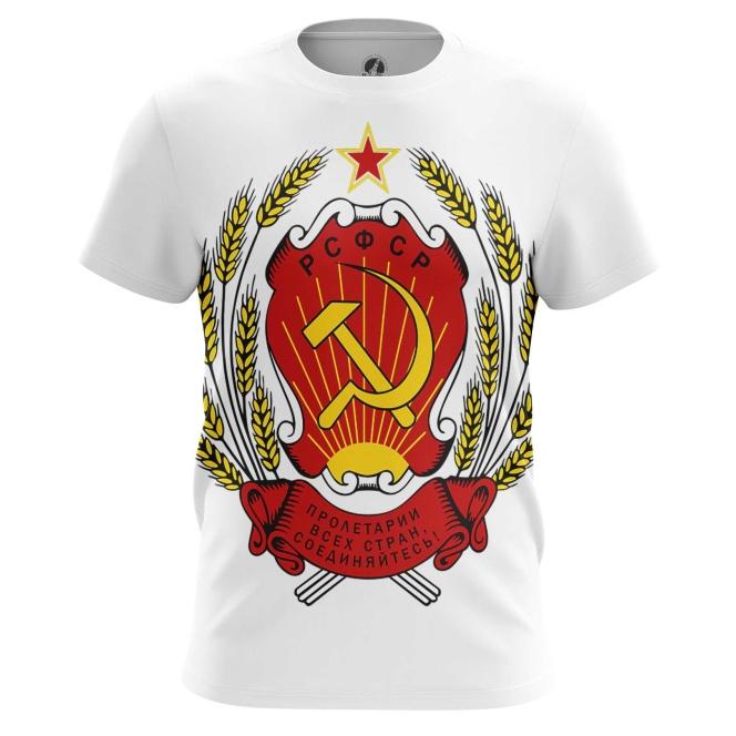 Merch Men'S T-Shirt Ussr Coat Logo Emblem Soviet Union Lenin