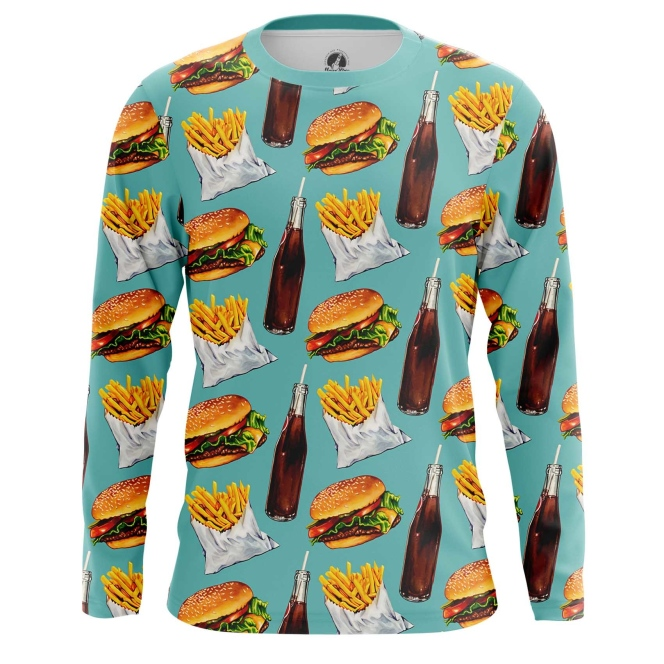 Collectibles Long Sleeve Fast Food Burger Coke Pattern
