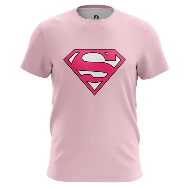 Collectibles T-Shirt Superman Pink Logo Dc Universe