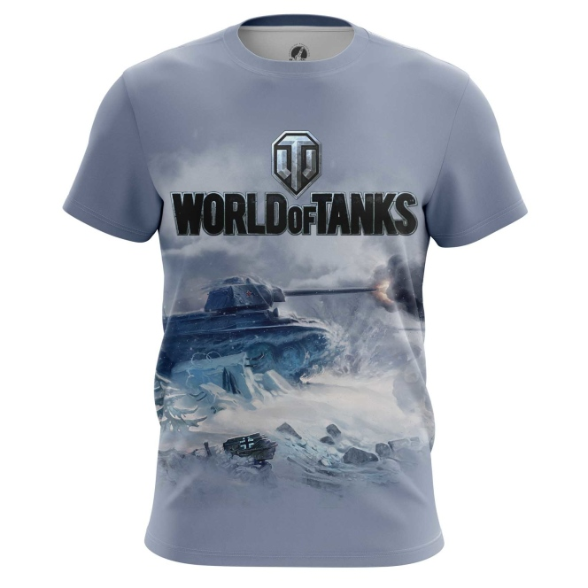 Merchandise Men'S T-Shirt World Of Tanks Ice Battle Force Tank Game Arcade