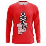 Collectibles Long Sleeve Revolver Love Gun Hearts Bullets Pop Art
