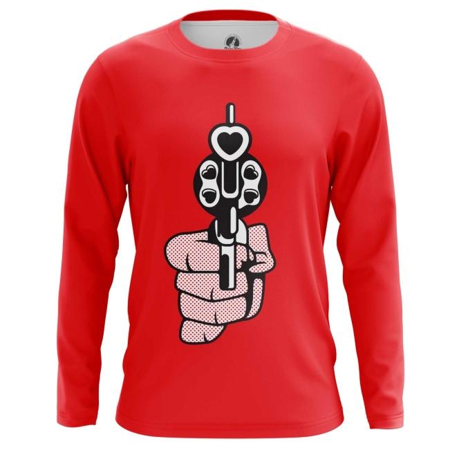 Merch Long Sleeve Revolver Love Gun Hearts Bullets Pop Art