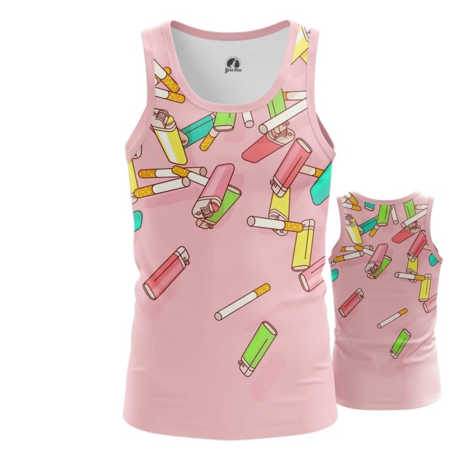 Merchandise - Tank Cigarettes Lighter Pop Art Inspired Textures Pattern Vest