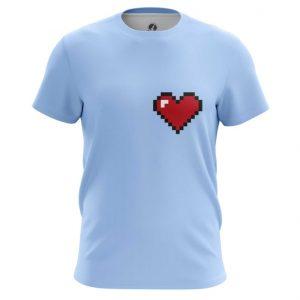 Merchandise T-Shirt 8 Bit Heart Pixel Web Art Illustration Inspired Nintendo