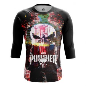 Merch Raglan Punisher Skull Inspired