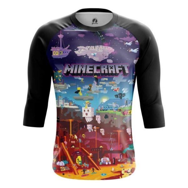 6f5c8801b Shop online Raglan t shirt mens t shirt Minecraft Pattern Fan art Мир best  merchandise and