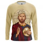 Merch Men'S Long Sleeve St. Messi Saint Footballer Icon Idol