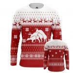 Collectibles Long Sleeve Deers Christmas Sweater Santa Fun Art