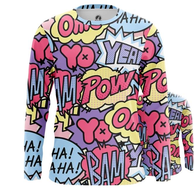 Collectibles Long Sleeve Pop Art Pattern Comics Contemporary