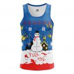 Merch Tank Christmas Of White Snowman Satan Killer Vest