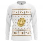 Merch Long Sleeve Bitcoin Christmas Special Pattern