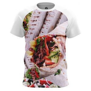 Merch Men'S T-Shirt Shawarma Food Art Fun Meat