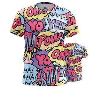 Merch T-Shirt Pop Art Pattern Comics Contemporary