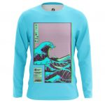 Merchandise Men'S Long Sleeve Great Wave Off Kanagawa Art 3D Japan Illustration