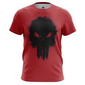 Merch T-Shirt Punisher Red Illustration Inspired