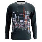 Merch Men'S Long Sleeve Megapolis Urban Illustration Big City