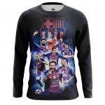 Merch Men'S Long Sleeve Fc Barcelona Fan Art Merch