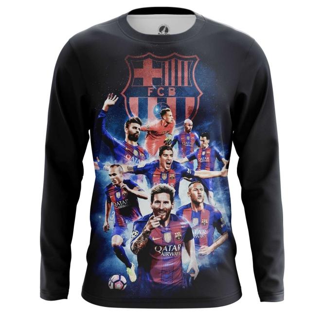 Collectibles Men'S Long Sleeve Fc Barcelona Fan Art Merch