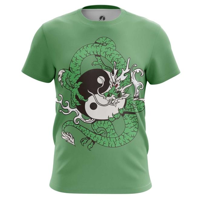 Merchandise T-Shirt Yin And Yang Mythical Dragon Print Asian Folk