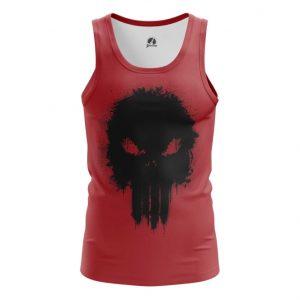 Merch Tank Punisher Red Illustration Inspired Vest