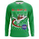 Merch - Long Sleeve Nasa Space Santa Claus 2 Christmas