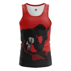 Merch Tank Punisher Black Red Art Inspired Vest