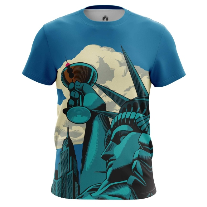 Collectibles T-Shirt Statue Of Liberty Web Art Inspired Have A Drink Vine