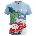 Merch Men'S T-Shirt Ferrari Car Logo Emblem Cote D'Azur