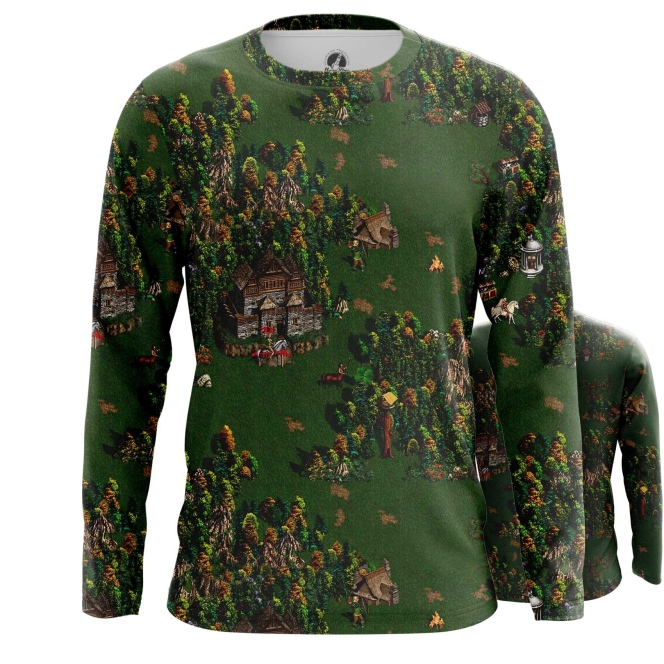 Collectibles Long Sleeve Heroes Of Might And Magic Map Print