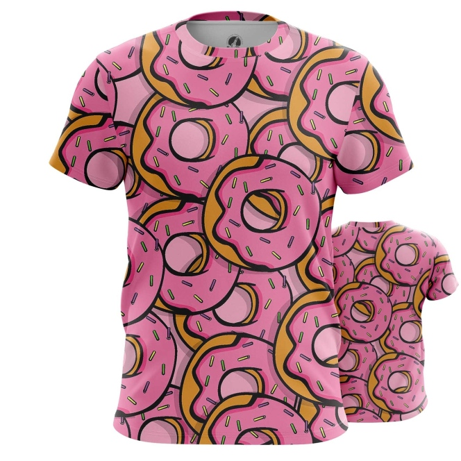 Collectibles T-Shirt Doughnuts Donuts Art Inspired Food Pattern