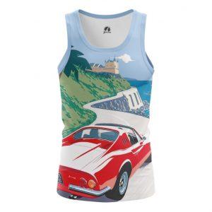 Collectibles Tank Ferrari Car Logo Emblem Cote D'Azur Vest